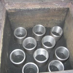 Příprava součástí k cementaci.